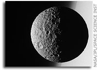 Mimas and Saturn's Limb