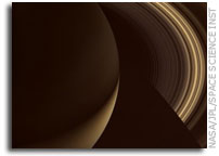 Golden Night on Saturn