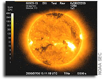 Lockheed Martin Solar X-Ray Imager on NOAA GOES-13(N) spacecraft sees first light