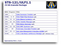 NASA STS-121/ULF1.1 FD 06 Execute Package