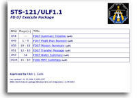 NASA STS-121/ULF1.1 FD 07 Execute Package