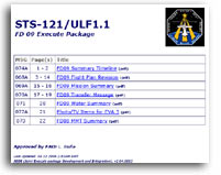 NASA STS-121/ULF1.1 FD 09 Execute Package