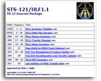 NASA STS-121/ULF1.1 FD 11 Execute Package
