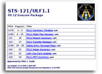 NASA STS-121/ULF1.1 FD 12 Execute Package