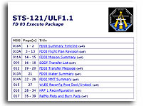 STS-121/ULF1.1 FD 03 Execute Package
