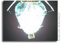 First Images From Space Of Genesis 1 Vehicle