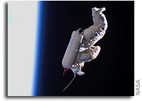 NASA Image of SuitSat in Space