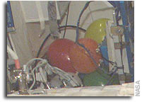 Question For NASA: Why Are There Party Balloons on the International Space Station?