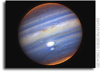 Gemini Observatory Captures Close Encounter of Jupiter's Red Spots