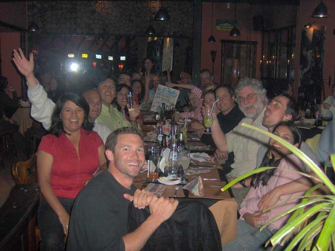farewell dinner in Antofagasta