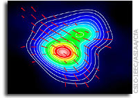 Hourglass Figure Points to Magnetic Field's Role in Star Formation