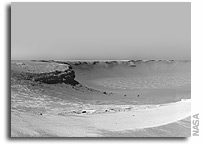 NASA Mars Rover Oportunity Image: 'Victoria Crater' from 'Duck Bay'