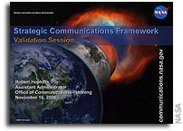 NASA Strategic Communications Framework Validation Session Presentation