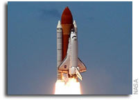 Space Shuttle Discovery Launches