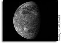 NASA New Horizons image: Ganymede