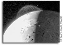 NASA New Horizons Image: Tvashtar's Plume on Io