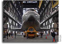 NASA's Shuttle Atlantis Rolls to Vehicle Assembly Building