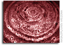 Cassini Images Bizarre Hexagon on Saturn