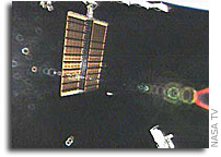 International Space Station's P3/P4 Solar Arrays Deploying