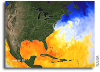 NASA Eyes Current Sea Surface Temperatures For Hurricanes