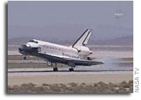 Space Shuttle Atlantis Lands in California