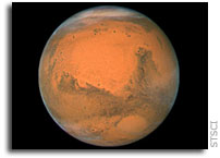 Hubble Space Telescope Photo at Mars' Closest Approach of 2007
