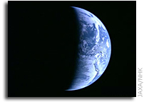 Lunar Explorer KAGUYA (SELENE)  Successful Image Taking  by the High Definition Television (HDTV)