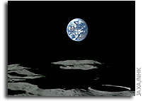 Kaguya (Selene) Images of Earth-Rise Over the Moon