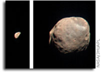 CRISM Views Phobos and Deimos