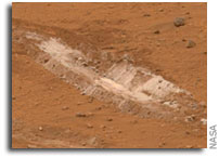 NASA Mars Rover Spirit Investigates Signs of Steamy Martian Past