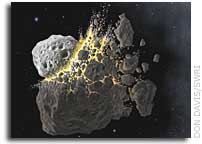 Large asteroid breakup likely source of the impactor that caused mass extinction event on Earth 65 million years ago