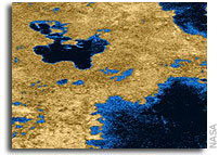Titan Has Liquid Lakes, Scientists Report in Nature
