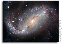 Hubble�s view of barred spiral galaxy NGC 1672