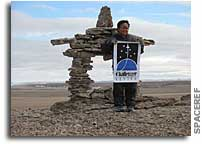 Constructing the Space Shuttle Challenger Memorial Inukshuk on Devon Island