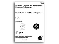 NASA Increment Definition and Requirements Document for ISS Increment 15