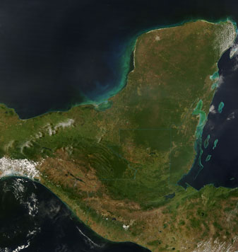 Nasa Modis Image Of The Day April 13 2007 The Yucatan