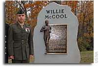 Dedication of the Willie McCool Memorial Marker at the United States Naval Academy