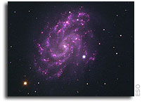 The Purple Rose of Virgo - VLT Image of Bright Supernova in Spiral Galaxy