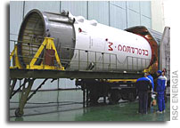 Progress M-62 Transported For Launch Vehicle Integration