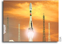 Official opening of the Soyuz launch base construction site in French Guiana
