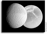 Two more active moons around Saturn - Tethys and Dione