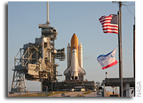 Space Shuttle Endeavour Moves to Launch Pad