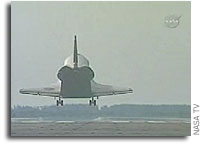 Space Shuttle Atlantis Lands at NASA Kennedy Space Center