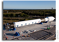 Falcon 9 Fully integrated at the Cape