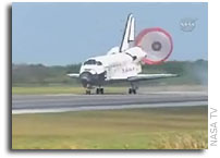 Space Shuttle Discovery Returns to Earth