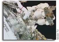 STS-122 Spacewalkers Prepare Columbus for Station Installation