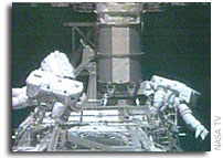 Spacewalkers Install New Solar Array Motor, Finish Inspections