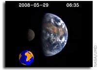 NASA's Deep Impact Films Earth as an Alien World