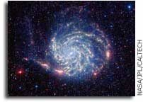 NASA Spitzer Telescope Reveals No Organics Zone Around Pinwheel Galaxy