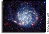 NASA Spitzer Telescope Reveals No Organics Zone Around Pinwheel Galaxy